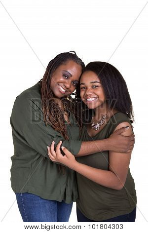 A mother and her teenage daughter