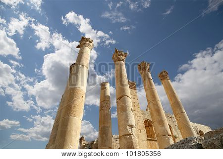 Temple of Zeus Jordanian city of Jerash