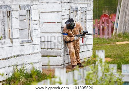 Marine Trooper On Tactical Military Training