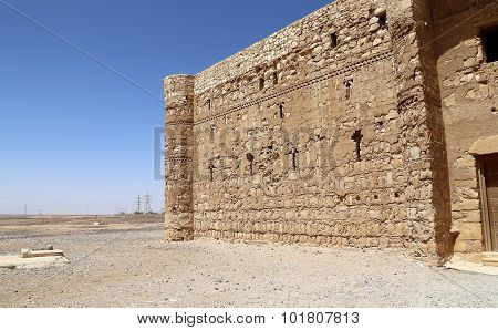 Qasr Kharana (Kharanah or Harrana) the desert castle in eastern Jordan (100 km of Amman).