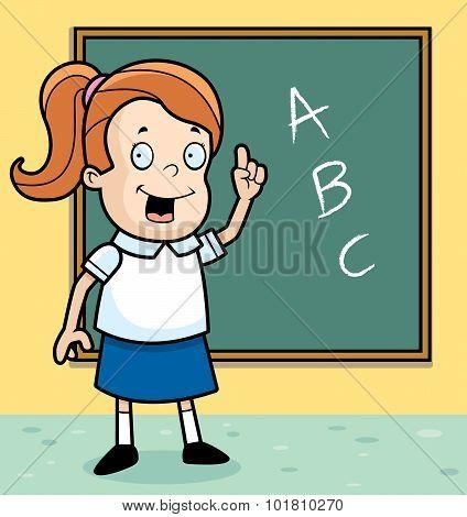 Schoolgirl Blackboard
