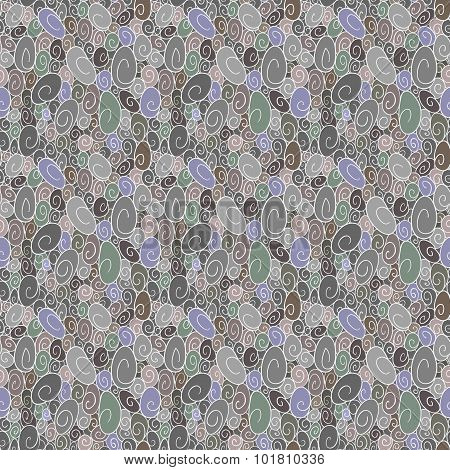 Seamless Background Of Scrollwork
