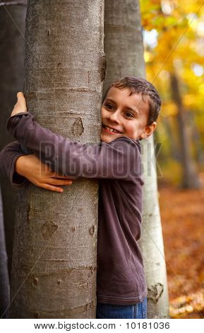 Boy Playing Outdoor