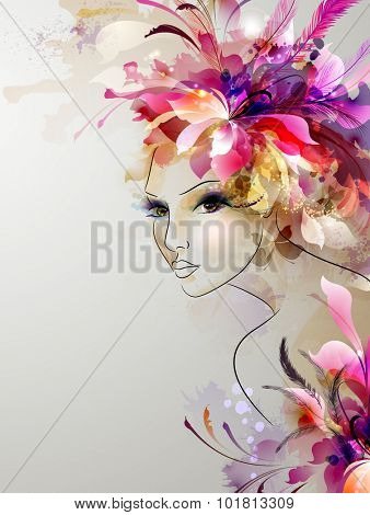 young woman in artistic image