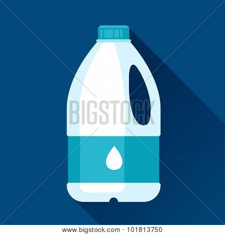 Illustration with gallon of milk in flat design style