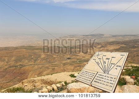 Desert Mountain Landscape (aerial View From Mount Nebo), Jordan, Middle East