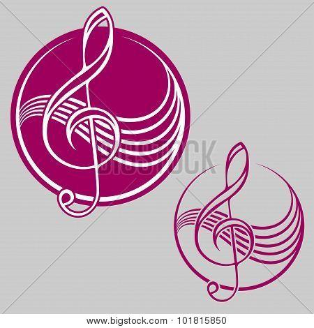 Logo with treble clef