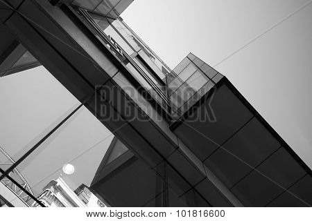 Abstract Skyscraper Vertical Black White