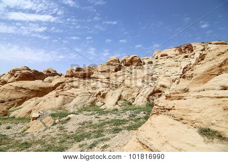 Mountains of Petra Jordan Middle East.