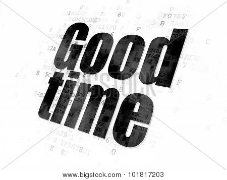 Time concept: Good Time on Digital background