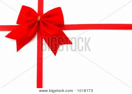 Gift Wrap On A White Background, Top View, Horizontal Orientatio
