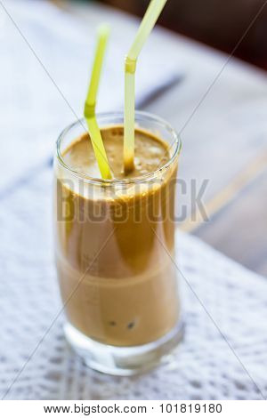 Ice Coffee Frappe With Milk