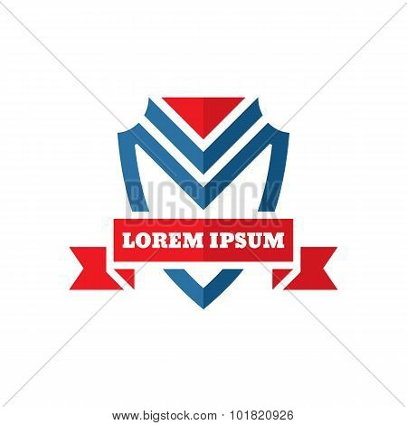 Shield protection - vector logo - concept sign. Vector logo template. Design element.