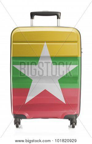 Suitcase With National Flag Series - Myanmar - Burma