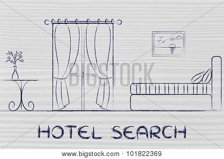 Hotel Search, Design Of Room Interior