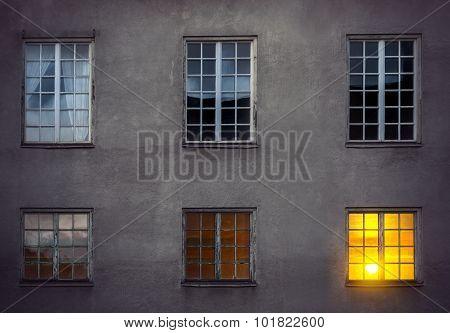Wall With Six Windows