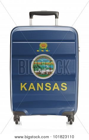Suitcase With Us State Flag Series - Kansas