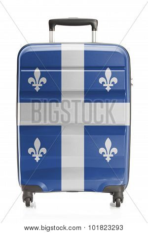Suitcase With Canadian Territory And Province Flag Series - Quebec