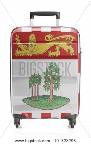 Suitcase With Canadian Territory And Province Flag Series - Prince Edward Island