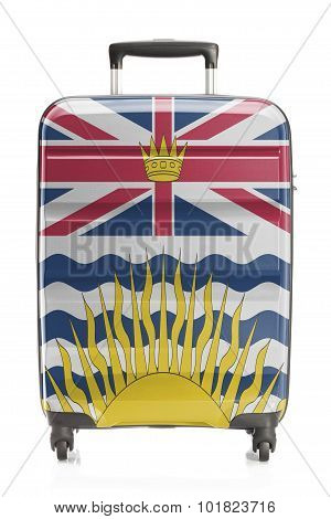 Suitcase With Canadian Territory And Province Flag Series - British Columbia