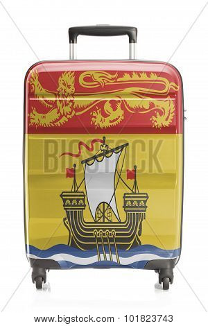 Suitcase With Canadian Territory And Province Flag Series - New Brunswick