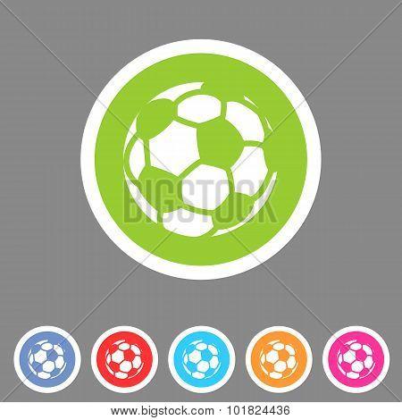 Football, soccer icon flat web sign symbol logo label