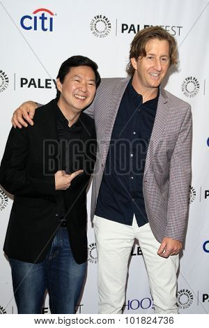 LOS ANGELES - SEP 12:  Ken Jeong, Mike Sikowitz at the PaleyFest 2015 Fall TV Preview - ABC at the Paley Center For Media on September 12, 2015 in Beverly Hills, CA