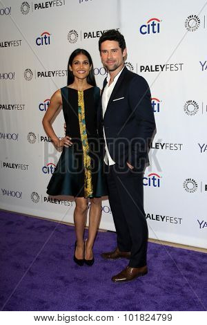 LOS ANGELES - SEP 12:  Melanie Chandra, Benjamin Hollingsworth at the PaleyFest 2015 Fall TV Preview - CBS Code Black at the Paley Center For Media on September 12, 2015 in Beverly Hills, CA