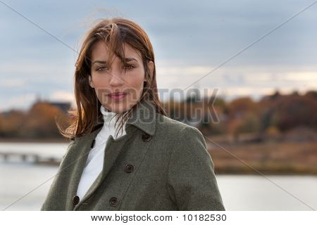 New England Woman During Fall