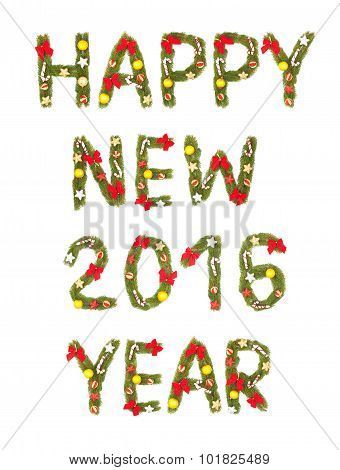 New Year's Eve Greeting. 2016