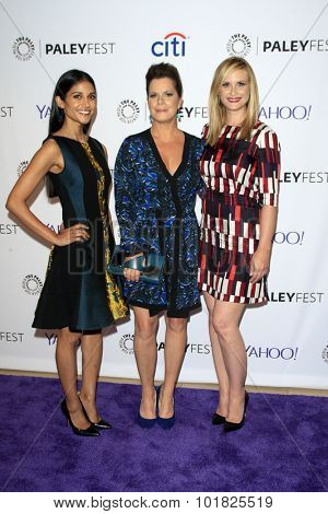 LOS ANGELES - SEP 12:  Melanie Chandra, Marcia Gay Harden, Bonnie Somerville at the Fall TV Preview - Code Black at the Paley Center For Media on September 12, 2015 in Beverly Hills, CA