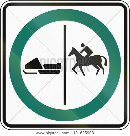 Equestrian And Snowmobile Lane In Canada