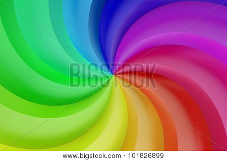 Abstract Colors Spiral Background