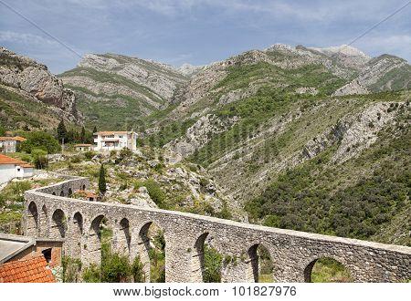 Aqueduct In Old Bar, Montenegro