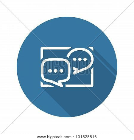 Discussion Board Icon. Business Concept. Flat Design.