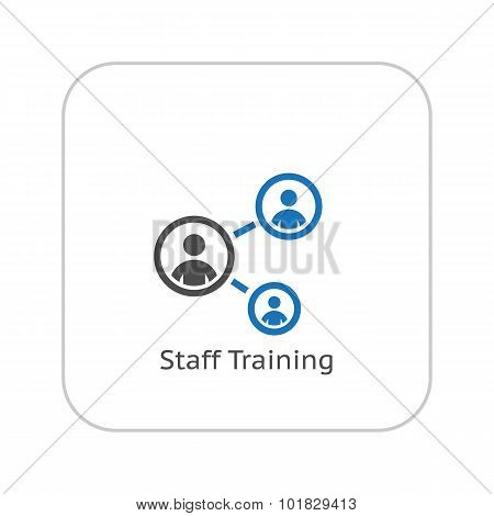 Staff Training Icon. Business Concept. Flat Design.