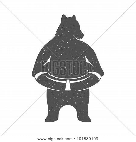 Vector Illustration Fun Bear