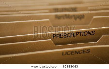 Cardboard Filing System Prescriptions