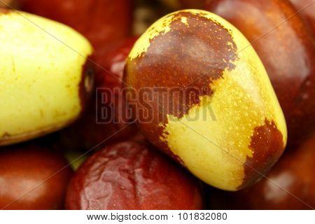 Jujube Fruits Closeup Background