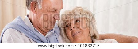 Old Couple Cuddling