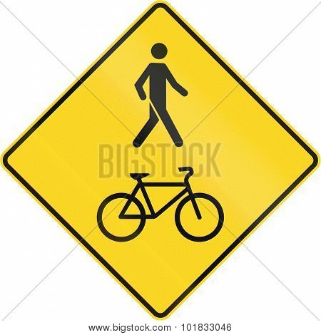 Pedestrian And Bicycle Crossing In Canada