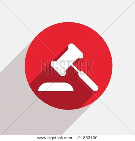 Vector modern courthouse red circle icon