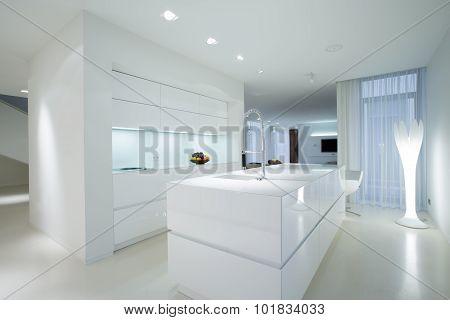 White Gleaming Kitchen