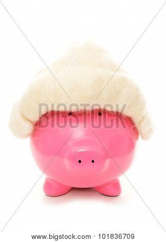 Piggy Bank Wearing A Judges Wig