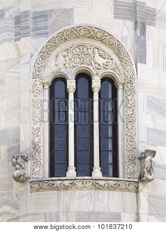 Window Of Virgin's Church In Studenica Monastery