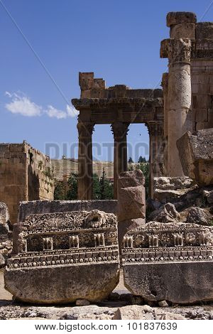 Baalbek, Lebanon, Middle East - is a town in the Beqaa Valley of Lebanon.