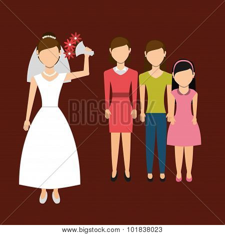 woman throwing wedding bouquet