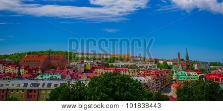 Beautiful Panorama View Of Downtown Gothenburg
