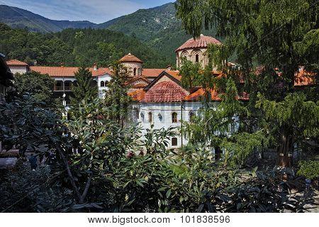 Amazing Panorama of  Medieval Bachkovo Monastery