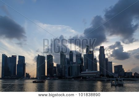 Singapore Business District Skyline
